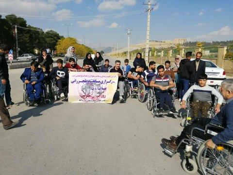برگزاری مسابقه ویلچر رانی معلولان