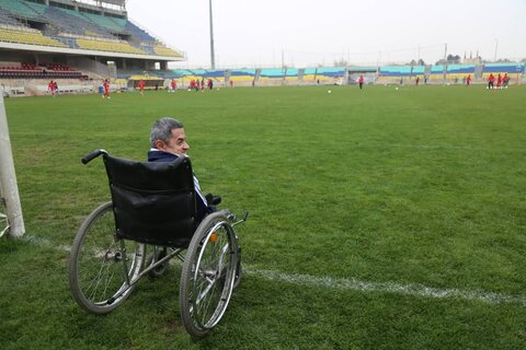 حضور افراد دارای معلولیت در تمرین پرسپولیس