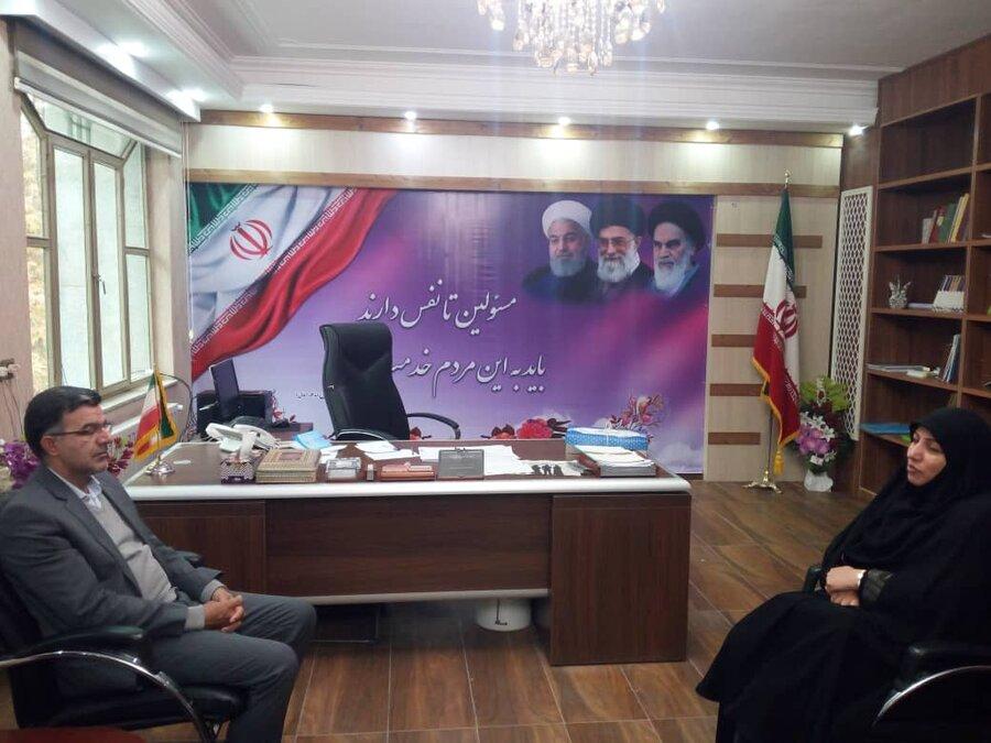 دیدار مدیرکل بهزیستی استان کرمانشاه با فرماندار شهرستان صحنه