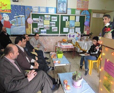 افتتاح کلاس حرفه آموزی کودکان با نیازهای ویژه دهگلان