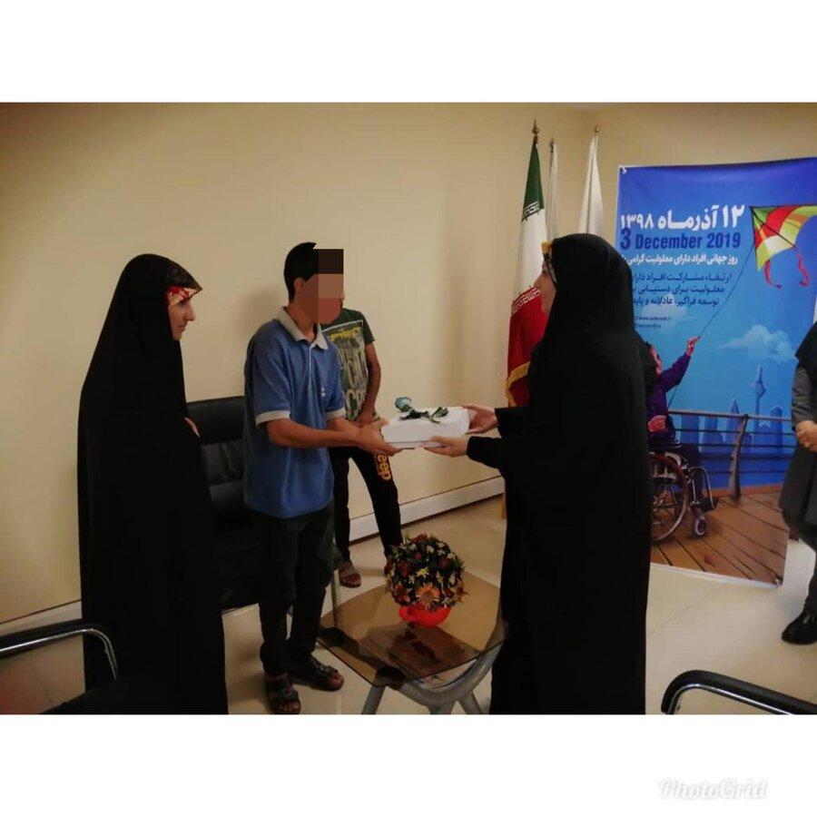 ملاقات رئیس اداره بهزیستی کیش با معلولین تحت پوشش