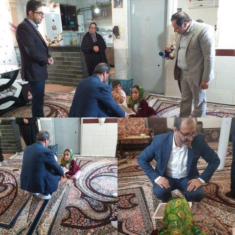 ساوجبلاغ |فرماندار شهرستان ساوجبلاغ به دیدار یکی از توانخواهان رفت