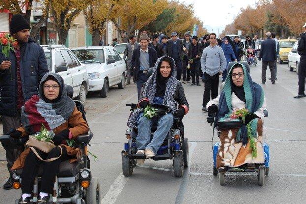 شهرضا  گزارش تصویری  برگزاری پیادهروی روز جهانی افراد دارای معلولیت