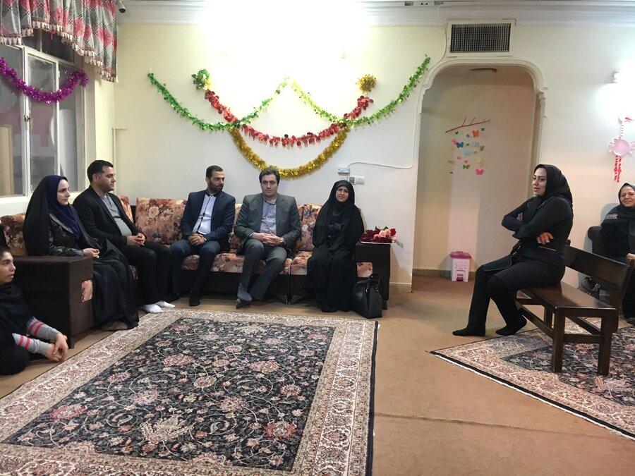 ملارد | فرماندار ملارد از مرکز نگهداری  معلولین بازدید کرد