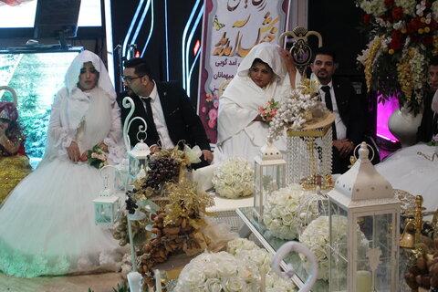 """با اجرای پویش """" حلقه وصل باشیم """" مراسم جشن پیوند و اهداء جهیزیه به ۱۴ زوج البرزی برگزار شد."""