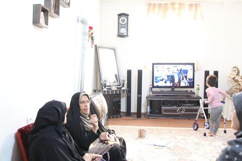 سمنان ا حضور رئیس و کارشناس اداره پذیرش و هماهنگی در منزل باران