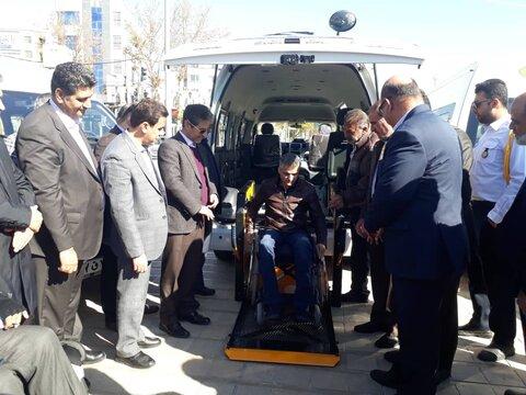 ونهای مناسبسازی شده ویژه معلولان و جانبازان در شیراز آغاز به کار کرد