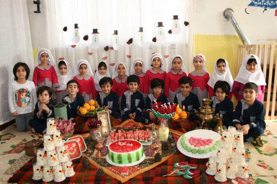 گزارش تصویری | برگزاری مراسم آئینی یلدا در مهدهای کودک قزوین