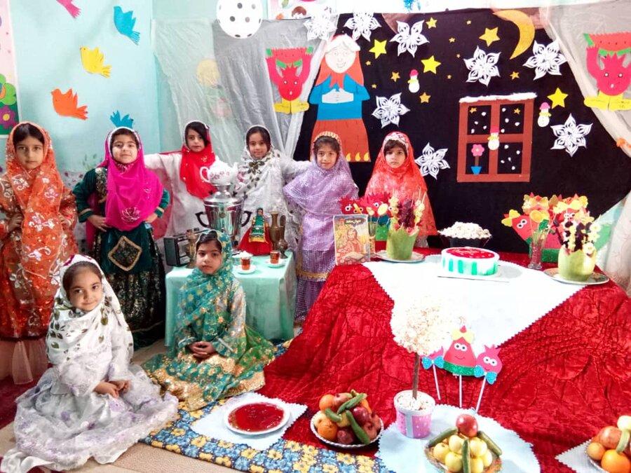 گزارش تصویری یلدا در مهدهای کودک تحت نظارت بهزیستی خوزستان
