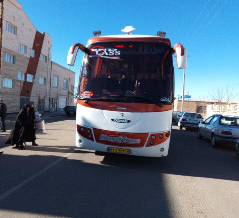 اعزام 40 نفر از مددجویان شهرستان سرایان به اردوی زیارتی طبس