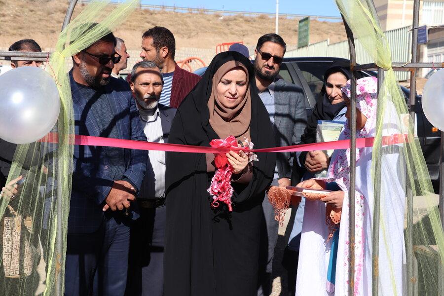 نمایشگاه محصولات خانگی مددجویان شهرستان سامان برپا شد