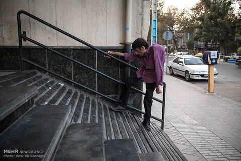 مشکل عمده معلولان در فضای شهری اردبیل عدم اجرای مناسب رمپها است