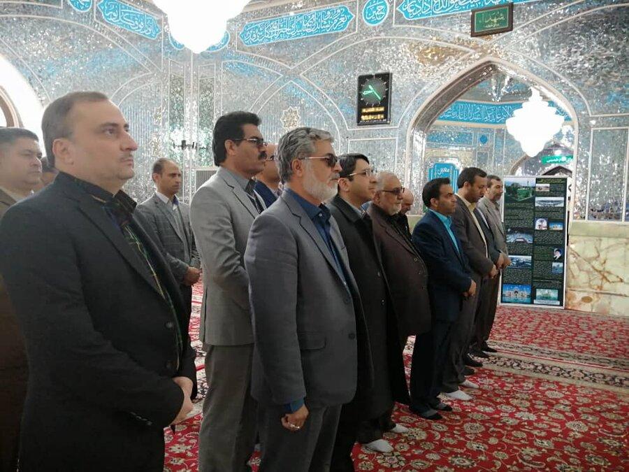 بازدید رییس سازمان از امامزاده حسین بن موسی کاظم در طبس