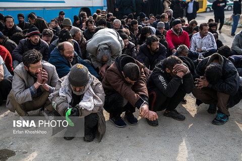 اقدامات بهزیستی در خصوص ساماندهی و رسیدگی به معتادان دستگیر شده در دره فرحزاد