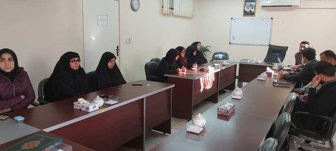 جلسه حلقه صالحین پایگاه بسیج بهزیستی گلستان با موضوع حماسه ۹دیماه