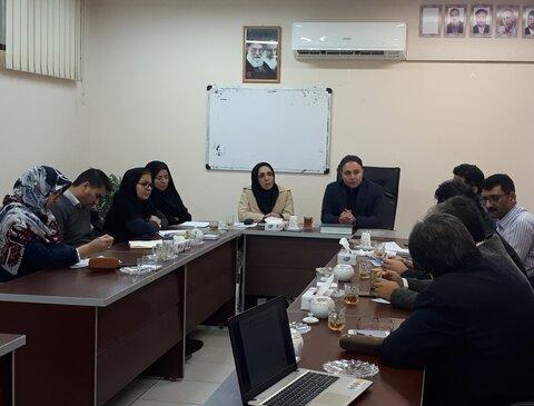 برگزاری جلسه هم اندیشی با کارگزاران بخش مداخلات روانی اجتماعی در خانواده بمنظور کاهش طلاق در بهزیستی گلستان
