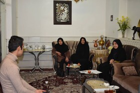 سمنان ا دیدار رئیس اداره بهزیستی شهرستان سمنان با مددجویان موفق