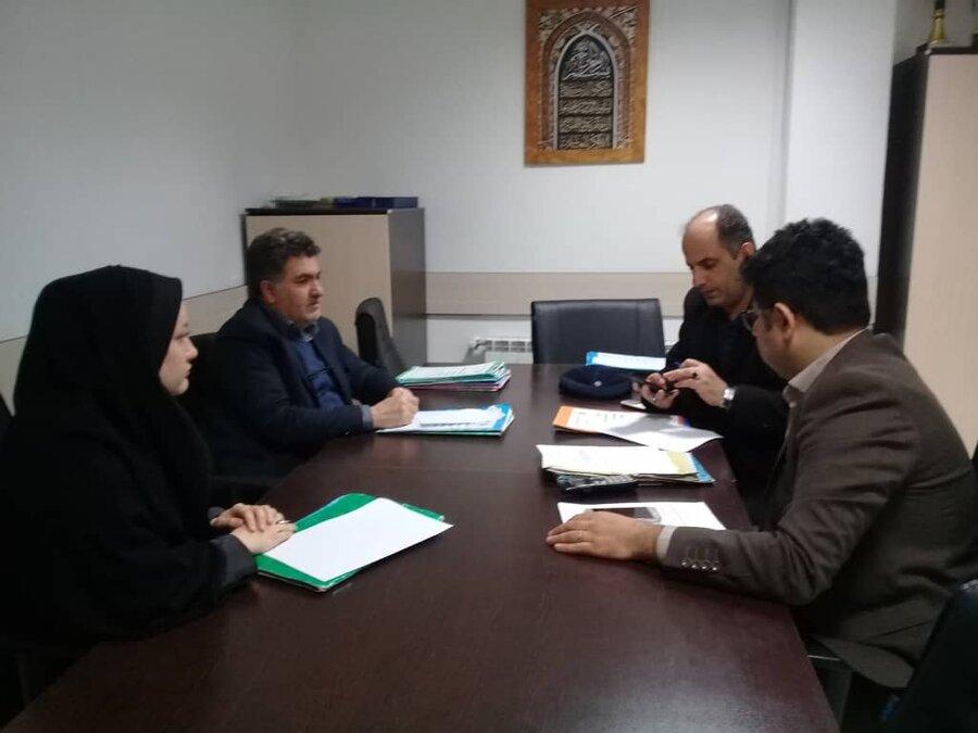 جلسه پیگیری مطالبات خانوارهای دو عضو معلول در شهرستان شفت