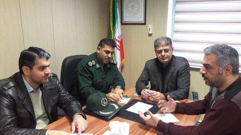 جلسه هم اندیشی  مسکن مددجویی بهزیستی شهرستان آستارا و بسیج سازندگی سپاه