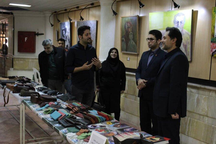 بازدید دکتر حسین نحوی نژاد از نمایشگاه کارگاه تولیدی حمایتی معلولین کاویان لنگرود