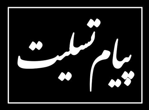 پیام تسلیت معاون رییس سازمان بهزیستی کشور به مناسبت درگذشت پدر رییس مرکز فناوری اطلاعات و تحول اداری این سازمان