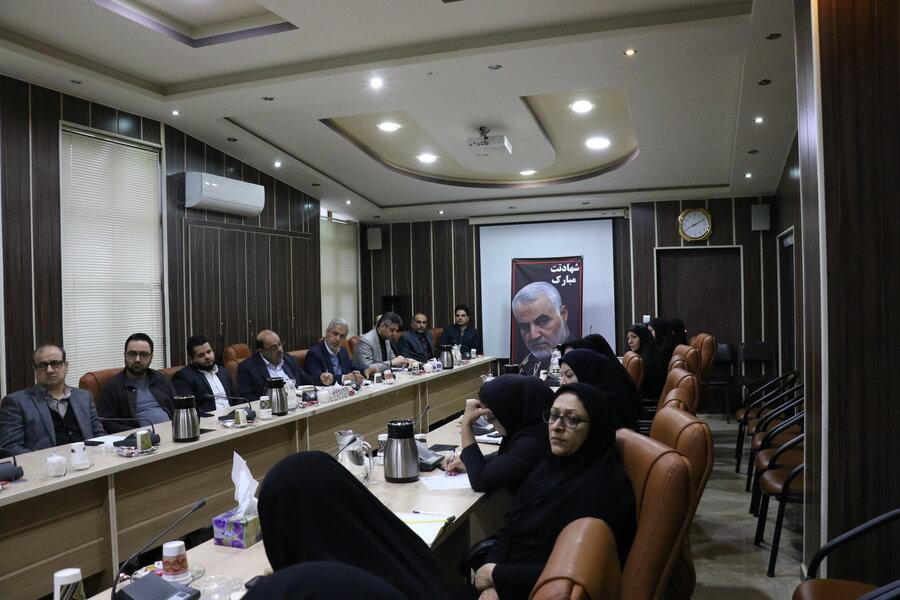 حضور معاون سیاسی سپاه قدس گیلان در جمع اعضای شورای معاونین بهزیستی