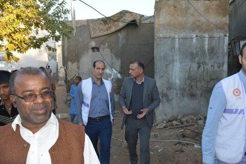 گزارش تصویری| بازدید رییس دبیرخانه مدیریت بحران بهزیستی از منطقه سیل زده کنارک در سیستان و بلوچستان