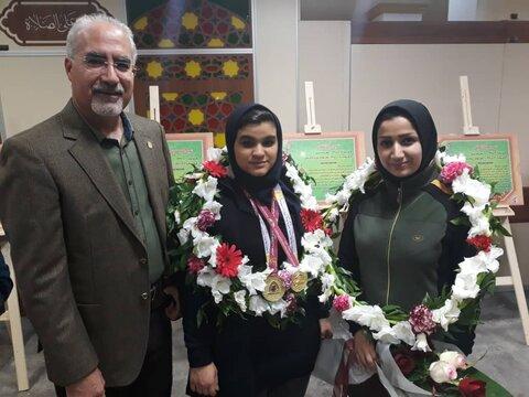 مراسم استقبال از مدالآور بانوی بوشهری در نخستین دوره مسابقات پاراوزنه برداری قهرمانی کشور + تصاویر