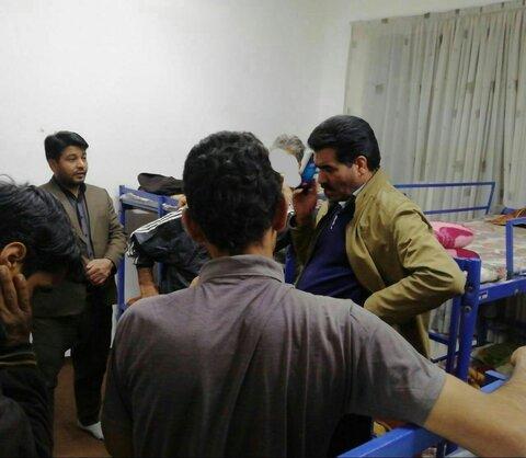 پذیرش شبانه 30  معتاد کارتن خواب در مرکز سرپناه شبانه بهزیستی استان خراسان جنوبی