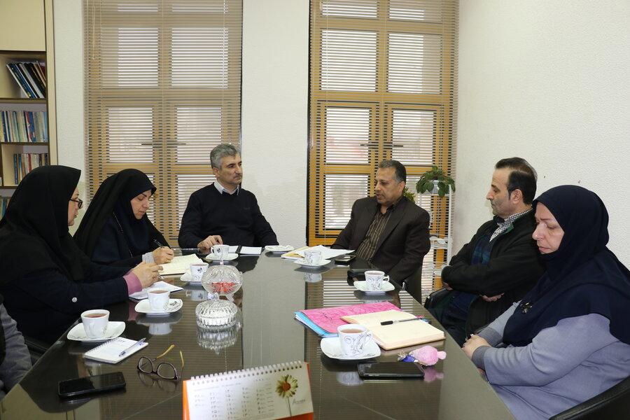 نشست مشترک ستاد پذیرش و هماهنگی و معاونت امور اجتماعی جهت ارائه راهکار برای حل مشکلات جامعه هدف سازمان