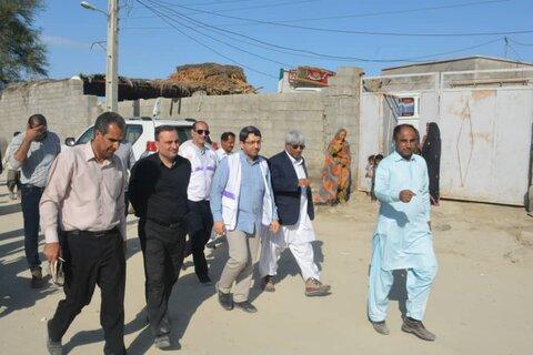 گزارش تجمیعی| بازدید رییس سازمان بهزیستی کشور از مناطق آسیب دیده از سیل در استان سیستان و بلوچستان