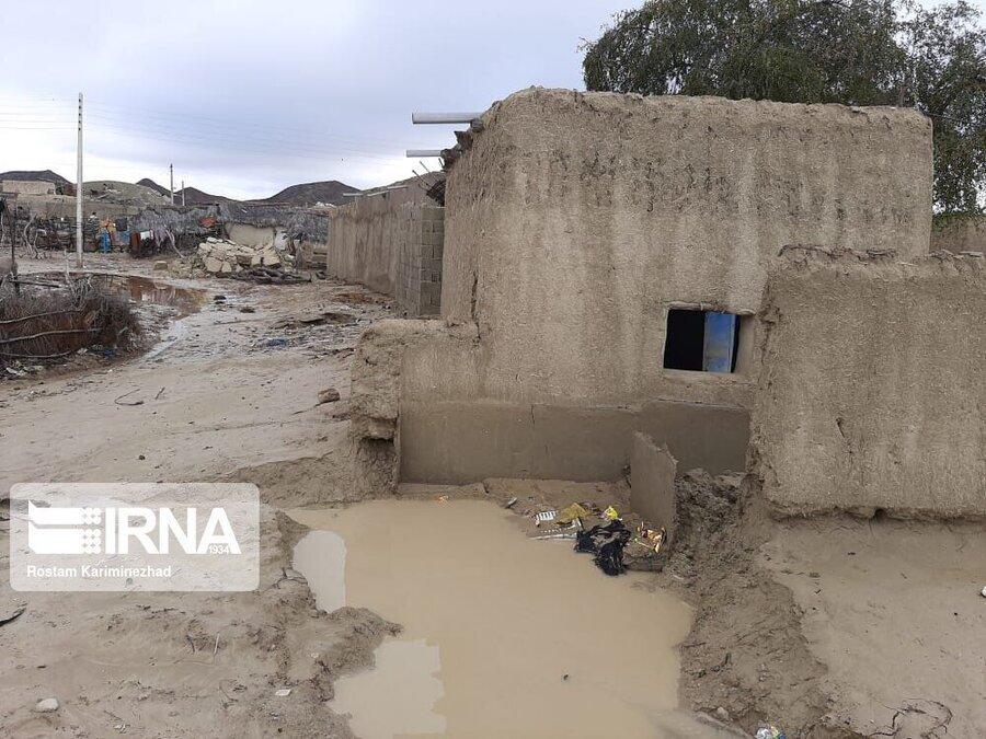 خسارت سیل به منازل مددجویان بهزیستی جنوب کرمان