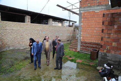 گلوگاه  | بازدید سرپرست بهزیستی مازندران از مسکن خانواده دارای سه عضو معلول