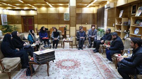 گزارش تصویری |دیدار نخبگان توانخواه بهزیستی استان قزوین با استاندار