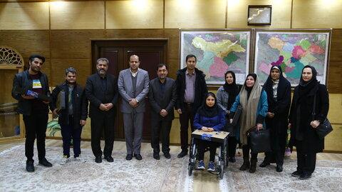 دیدار تعدادی از نخبگان توانخواه بهزیستی استان با استاندار قزوین