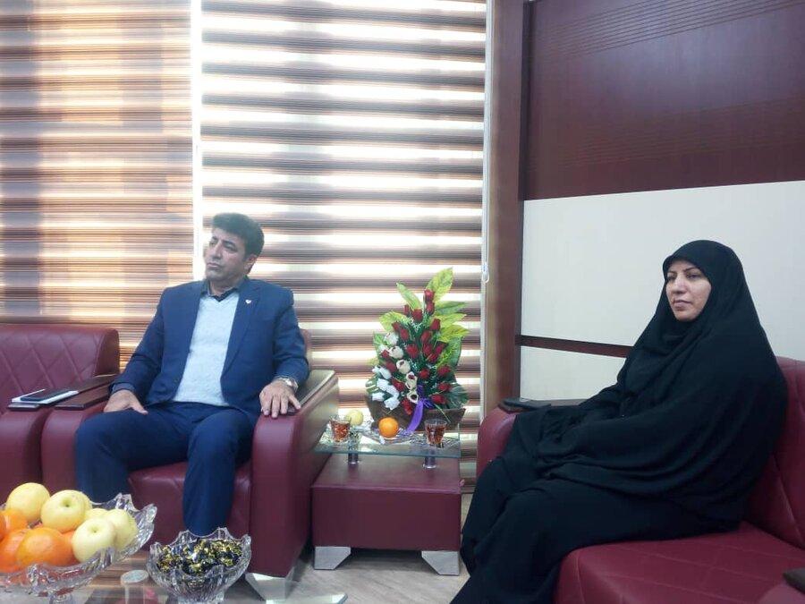 دیدار مدیرکل بهزیستی کرمانشاه با مدیر عامل شعب بانک رفاه استان
