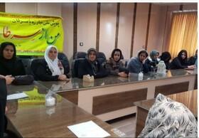 برگزاری جلسه آموزشی نه به سرطان با تغذیه سالم در بهزیستی کامیاران