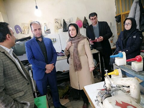 بهار |افتتاح کارگاه تولید کفش چرم