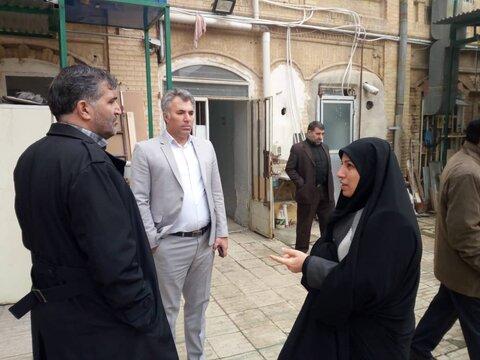 بازدید معاون توسعه مدیریت و منابع انسانی سازمان بهزیستی کشور از ساختمان های مراکز بهزیستی کرمانشاه