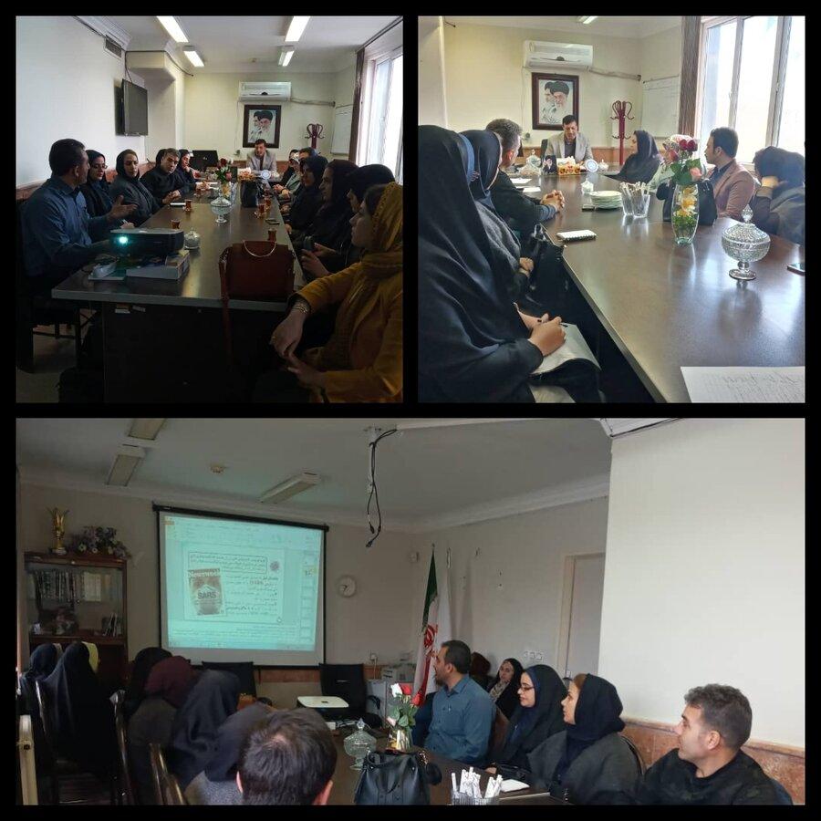 نظرآباد | کلاس آموزشی کنترل و پیشگیری از شیوع ویروس کرونا برگزار شد