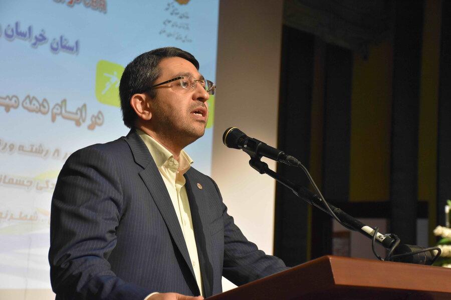 مراسم اختتامیه اولین جشنواره طرح ورزش و بازیهای بومی محلی فراگیر در برنامه توانبخشی مبتنی بر جامعه (CBR) در مشهد