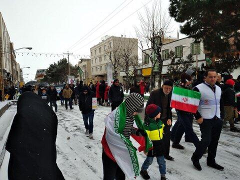 گزارش تصویری | حضور کارکنان ، مراکز تحت نظارت در راهپیمایی 22 بهمن