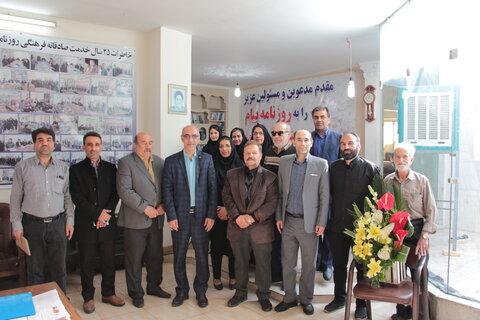 نشست مدیر کل بهزیستی استان سمنان  با سرپرست و اعضای تحریریه روزنامه پیام استان سمنان: