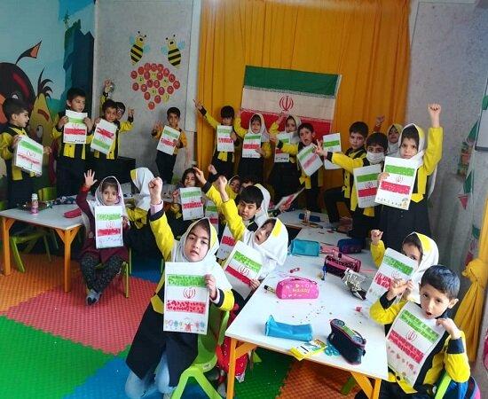 برگزاری جشن انقلاب در مهدهای کودک شهرستان بیجار
