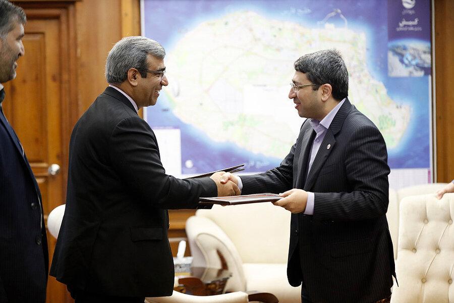 امضای تفاهم نامه رئیس سازمان بهزیستی با مدیرعامل منطقه آزاد کیش