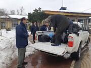 اعزام گروه های امدادی به مناطق صعب العبور در گیر برف شهرستان های صومعه سرا و ماسال