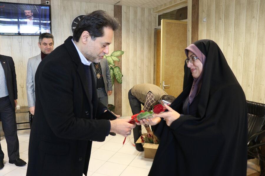 تبریک دکتر نحوی نژاد به بانوان همکار به مناسبت گرامیداشت میلاد حضرت فاطمه زهرا (س)