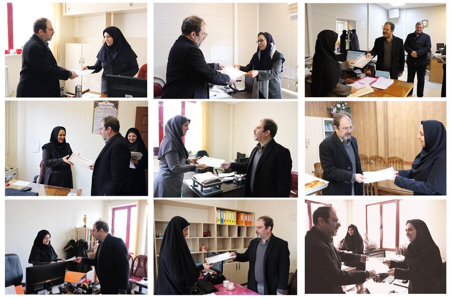 تقدیر مدیرکل بهزیستی آذربایجان غربی از کارکنان شاغل در ستاد مرکزی بمناسبت میلاد حضرت فاطمه(س)