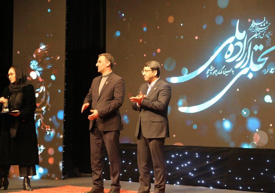 نیکی کریمی در اختتامیه بخش تجلی اراده ملی سی و هشتمین دوره جشنواره فیلم فجر