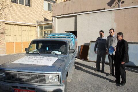 ارسال اولین محموله غیر نقدی به  مناطق آسیب دیده از برف استان گیلان